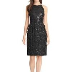 Eliza J. Sequin & Petal Appliqué Halter  Dress